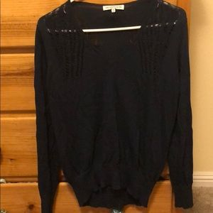 Blue Anthropologie lightweight sweater